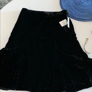 NWT Marc Jacobs midi velvet skirt